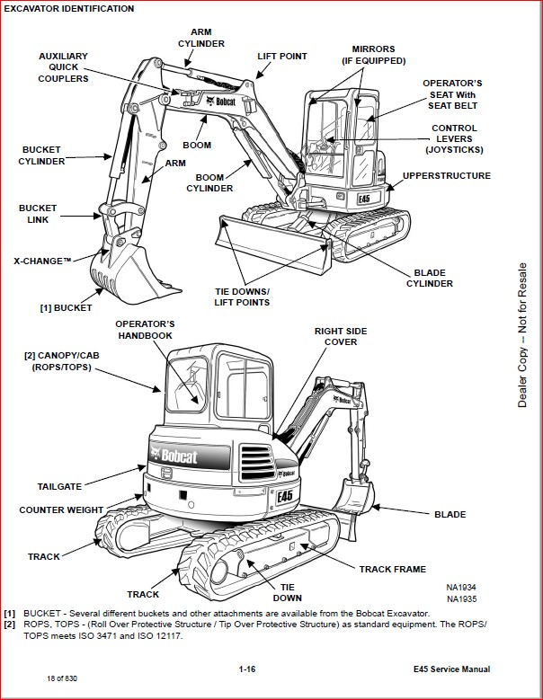 BOBCAT E45 COMPACT EXCAVATOR SERVICE REPAIR WORKSHOP