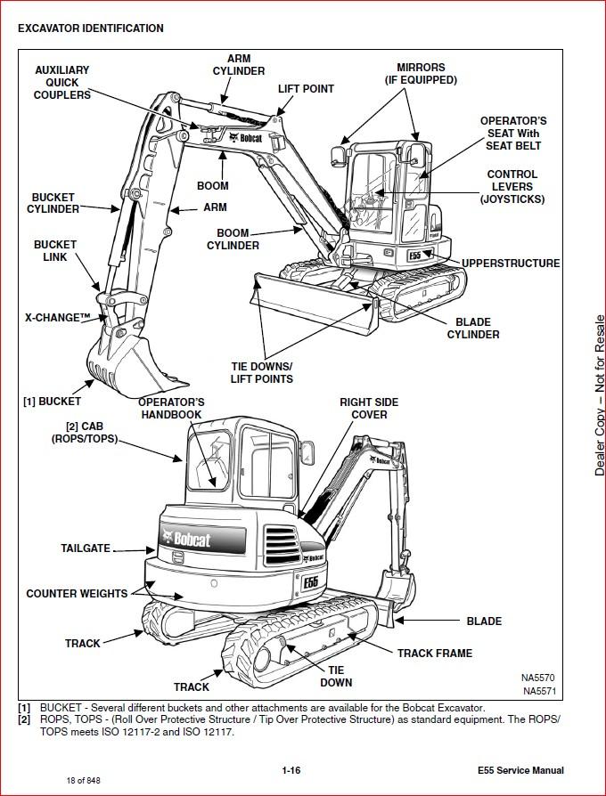 BOBCAT E55 COMPACT EXCAVATOR SERVICE REPAIR WORKSHOP