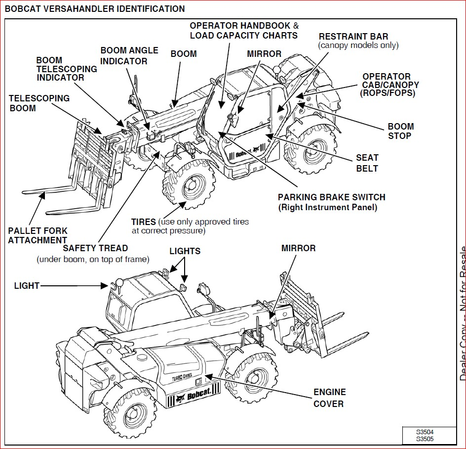 BOBCAT V638 VERSAHANDLER SERVICE REPAIR WORKSHOP MANUAL