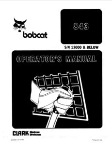 Bobcat 843 Service Manual Free Download