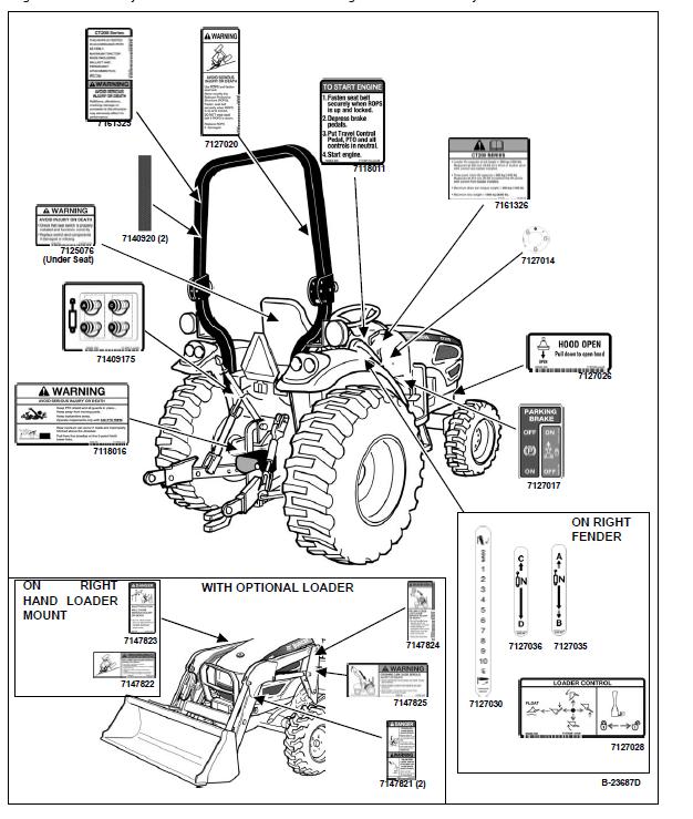 Bobcat CT235 Compact Tractor Operation & Maintenance