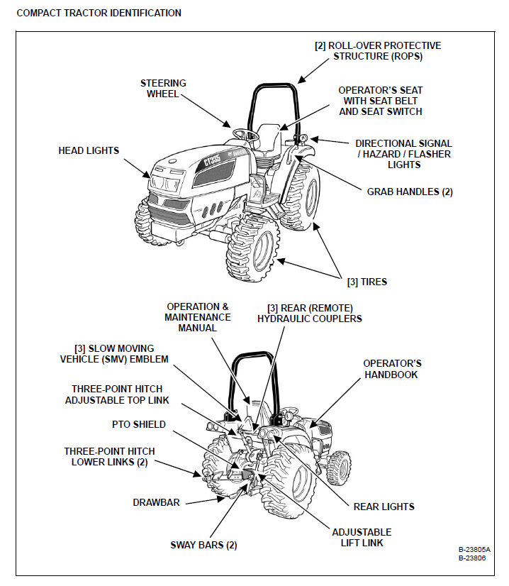 Bobcat CT335 Compact Tractor Operation & Maintenance