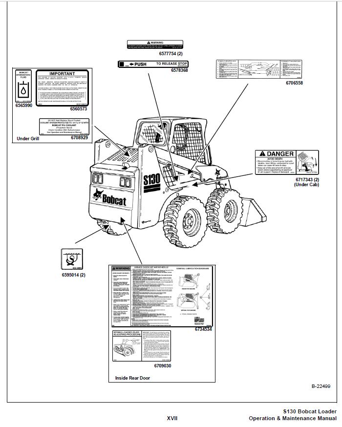 Bobcat S130 Skid Steer Loader Operation & Maintenance