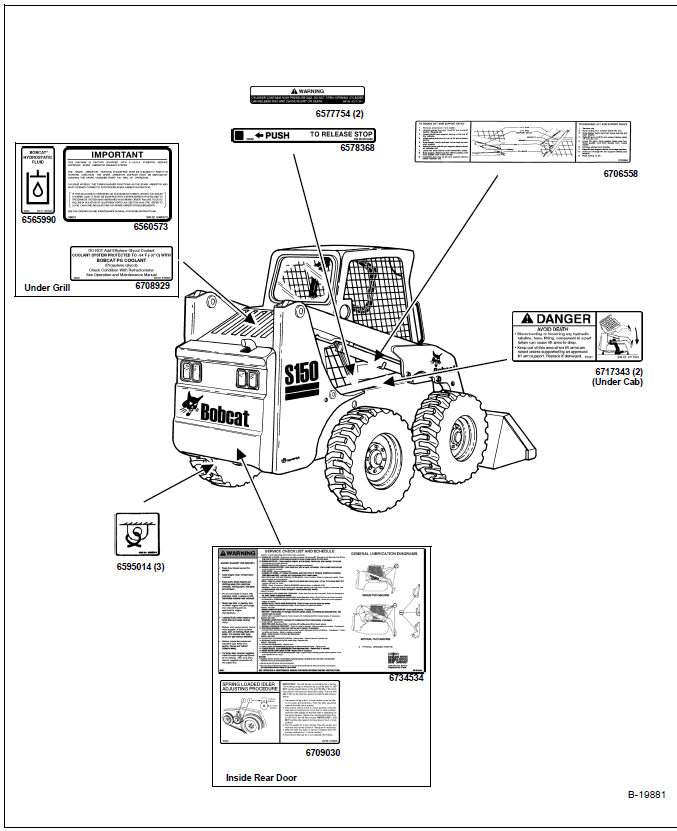 Bobcat S150 Skid Steer Loader Operation & Maintenance