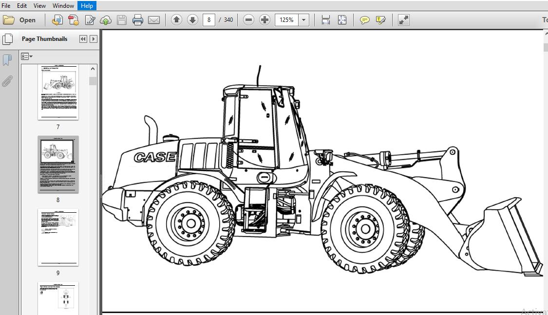 Case 821F 921F Tier 4 Wheel Loader Operator 's Manual