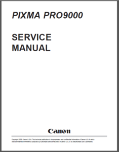 Canon Pixma Pro 9000 Printer Service Repair Workshop