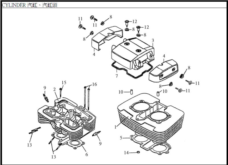 Smc 250e Twin And Single Carburetor Engine Parts Manual