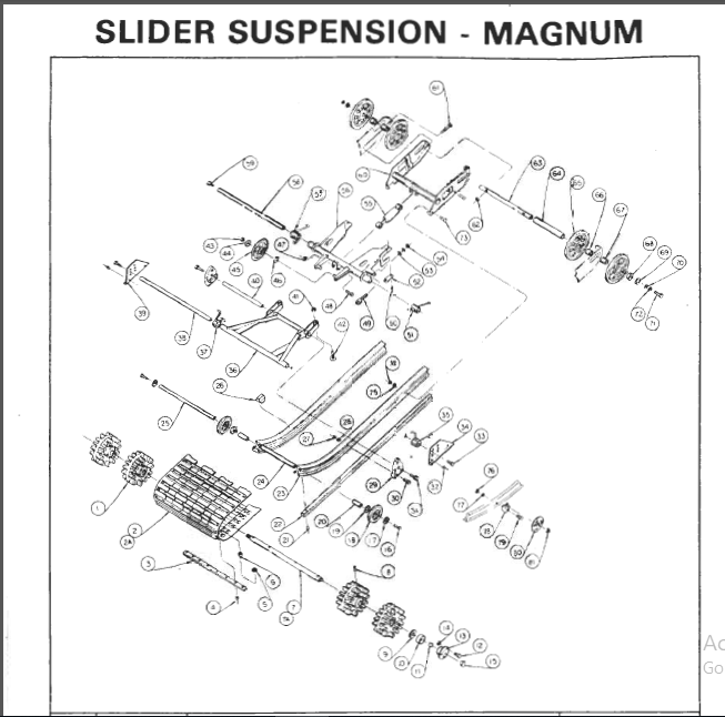1976 Rupp Nitro Magnum Snowmobile Parts Manual PDF