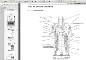 Case CX31B CX36B Compact hydraulic Excavator Service
