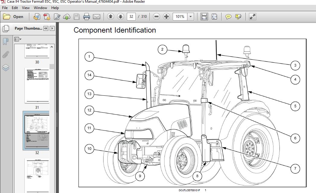 Case Ih Tractor Farmall 85c 95c 105c Operator S Manual Pdf Download Heydownloads Manual Downloads