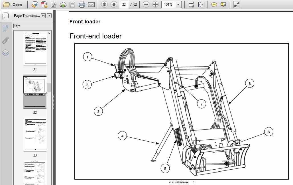 Case IH Tractor L530,L540,L550,L560 Operator's Manual