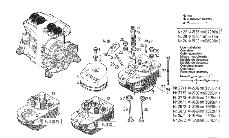 Deutz 912 Diesel Engine Parts Part Epc Ipl Manual