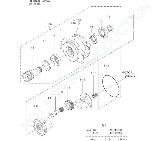 Hitachi Ex20u 3 Excavator Equipment Components Parts