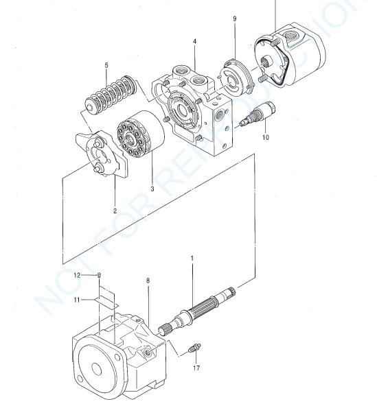 Hitachi Ex27u Ex29ue Excavator Equipment Components Parts