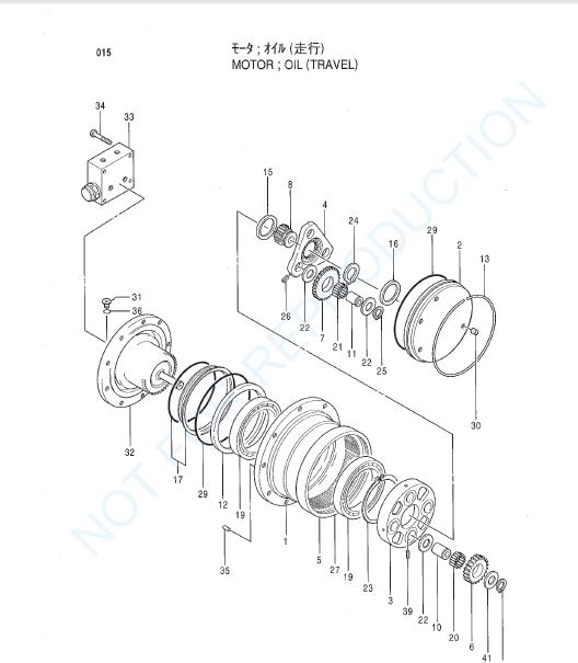Hitachi Ex40ur 2c Excavator Equipment Components Parts