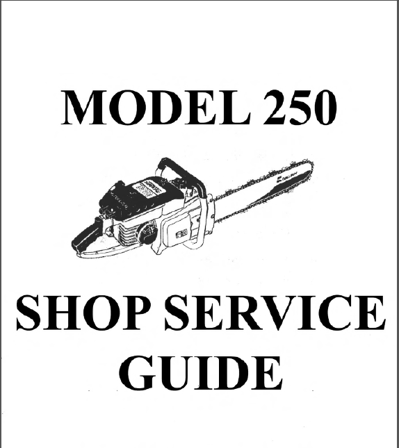 Mcculloch 250 Chain Saw Service Repair Guide Manual