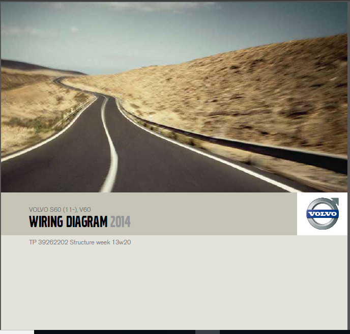 Volvo S60 V60 2014 Electrical Wiring Diagram Manual Instant - Download