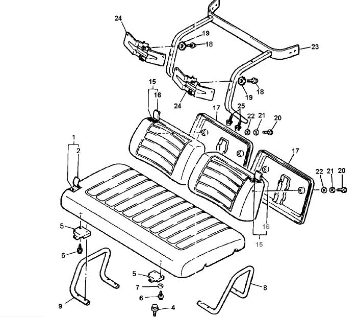 Yamaha G16ap G16ar Jn61 Golf Cart Parts Manual Catalog