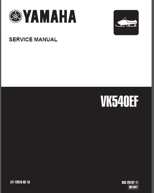 Yamaha viking 540 service manual - Google Docs