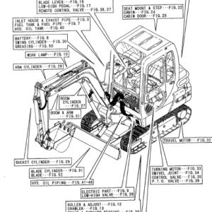 Yanmar Crawler Backhoe B50 B50 1 Parts Catalog Manual Pdf