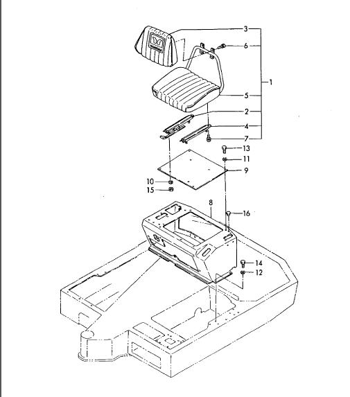 Yanmar Yb271 B27 B27 1 Crawler backhoe Parts Catalogue