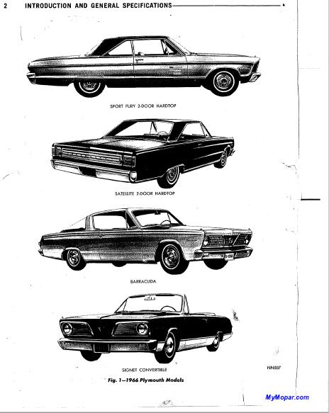 1966 Plymouth Valiant V 100 V 200 Signet Barracuda