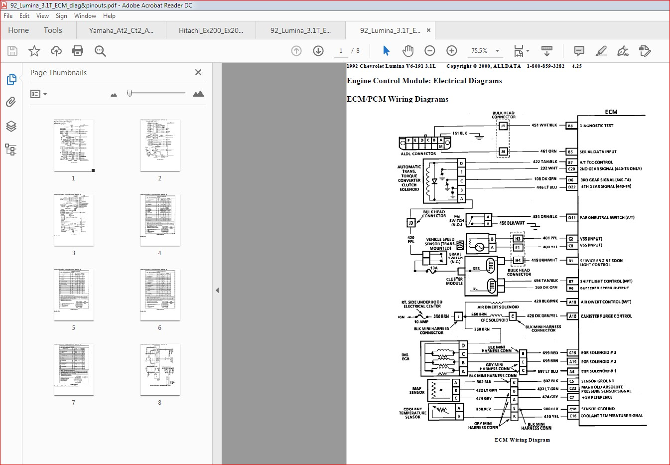 1992 Chevrolet Lumina Engine Control Module Wiring Diagram