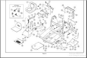 ASV RC30 Rubber Track Loader 3 Manual Set Operators, Parts