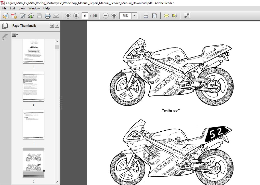 Cagiva Mito Ev Mito Racing Motorcycle Workshop Manual Manual Guide