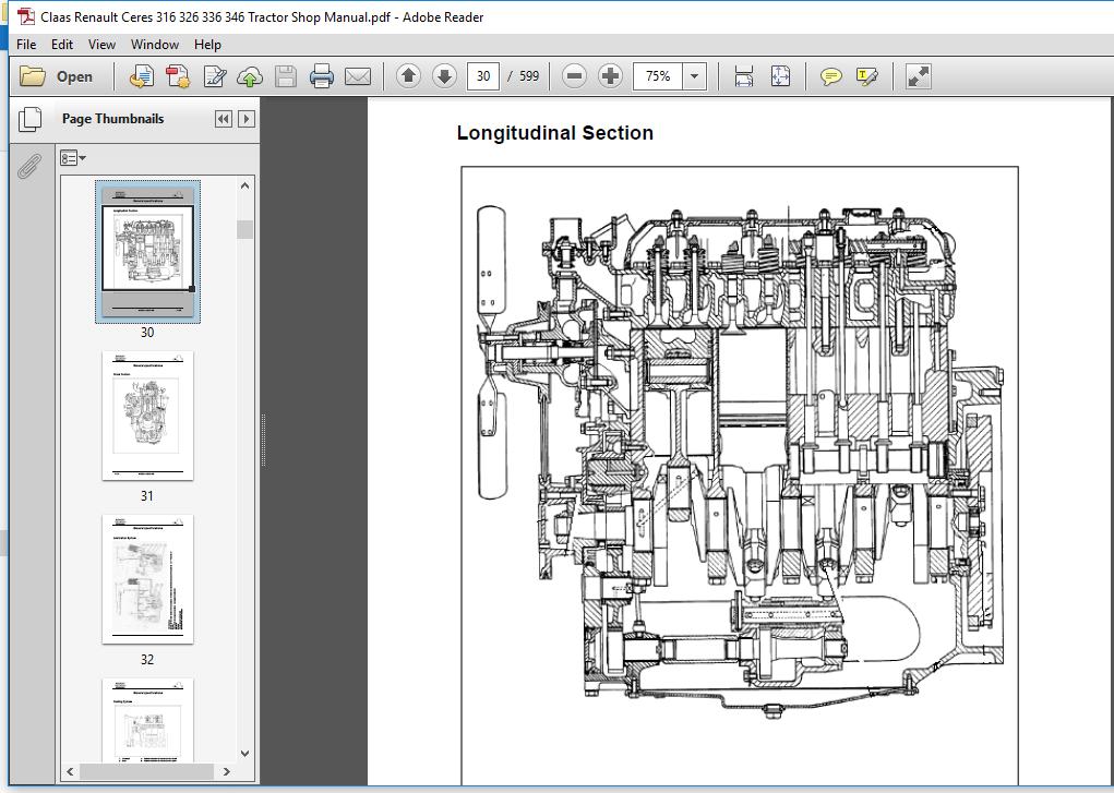 Claas Renault Ceres 316 326 336 346 Tractor Service Repair Manual Pdf Download Heydownloads Manual Downloads
