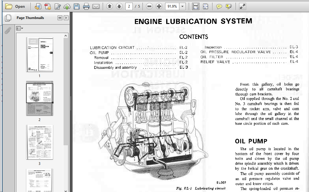 Datsun Engine Manual L14 L16 L18 Workshop Repair Service