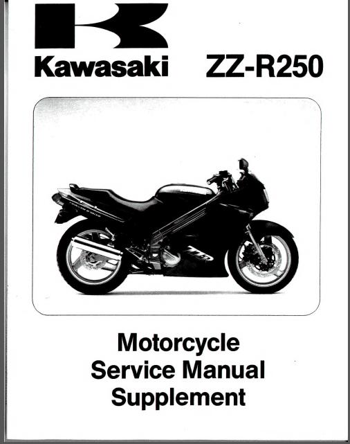 Kawasaki ZZR250 ZZ R250 ZZR 250 EX250 Motorcycle 1986-2002