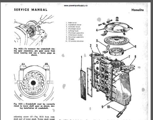 Homelite Fisher Pierce 55hp 4 Stroke Outboard Shop Manual