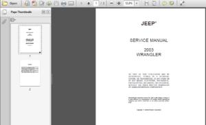 Jeep | Wrangler Service Repair Workshop Manuals