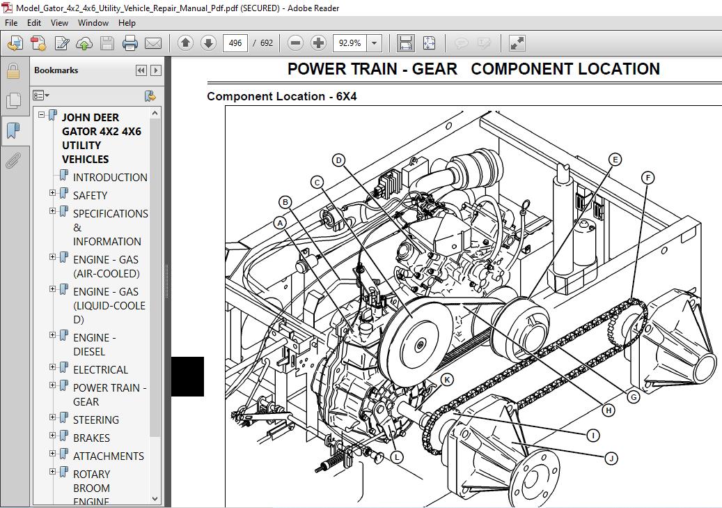 John Deere Gator 4x2 4x6 Utility Vehicle Repair Manual - PDF DOWNLOAD ~  HeyDownloads - Manual DownloadsHeyDownloads
