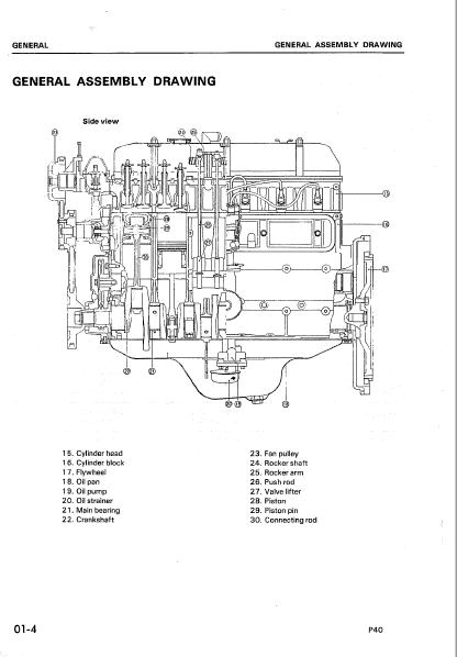 Komatsu P40 Engine Fg35z Fg35 Fg33s Fg50 Workshop Repair