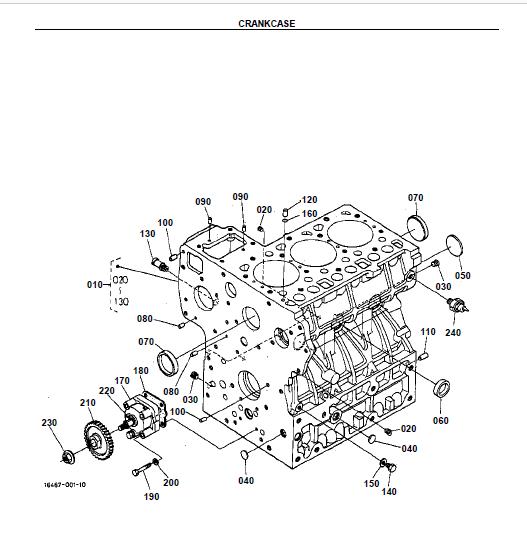 Kubota L2900F Tractor Illustrated Master Parts List Manual