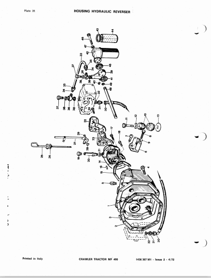 Massey Ferguson Mf400 Tractor Loader Dozer Parts Catalog Manual Pdf Download Heydownloads Manual Downloads