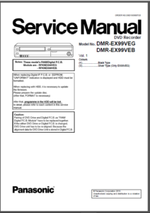 Panasonic Dmr ex99v Ex99veb Ex99veg Service Manual And