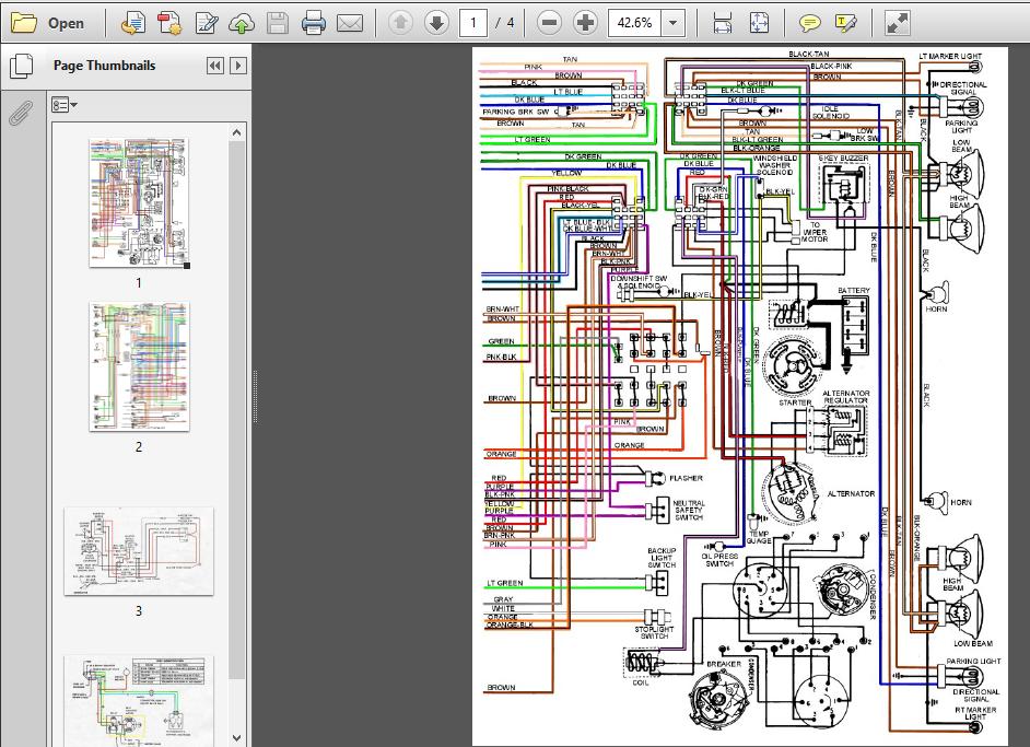 Pontiac Firebird Wiring Diagrams 67 68 69 Models