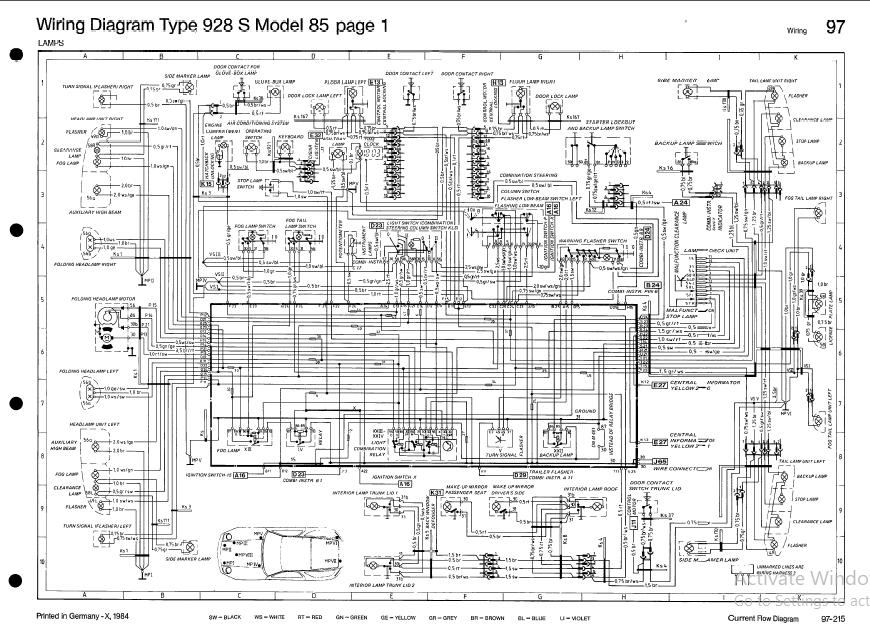 Porsche 928s Model 1985 Wiring Diagram, Porsche 928 Wiring Diagrams
