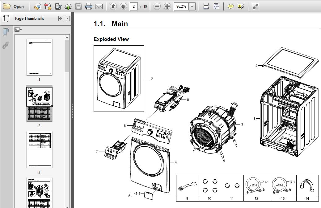 Samsung WF350ANW WF350ANR WF330ANW WF330ANB Service Manual