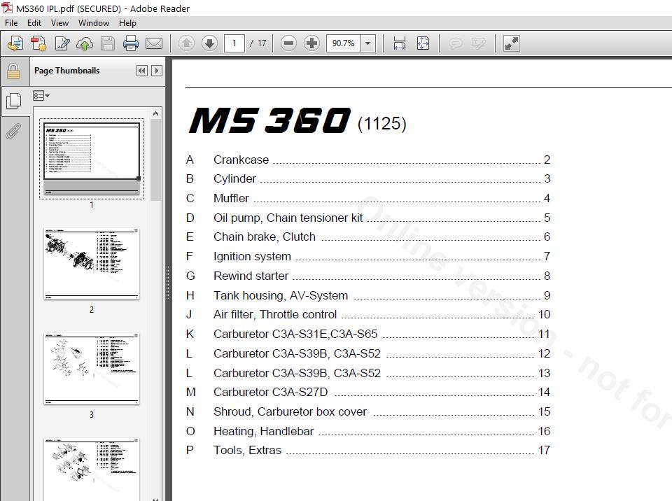 Stihl Ms360 Service Manual Illustrated Parts Manual List Ipl Pdf Download Heydownloads Manual Downloads