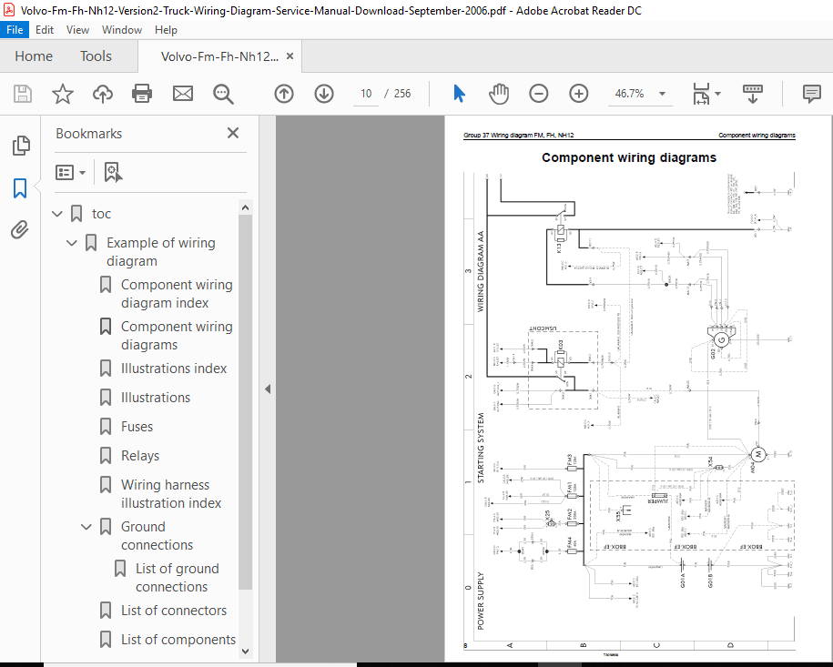 volvo fm fh nh12 version 2 truck wiring diagram service manual - pdf  download ~ heydownloads - manual downloads  heydownloads