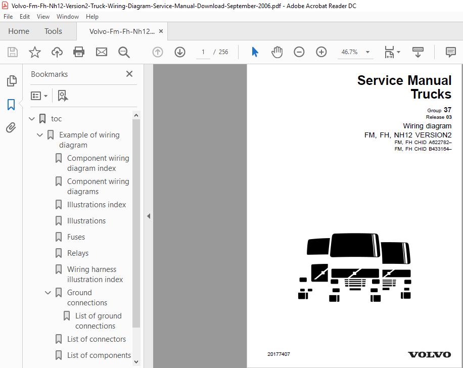 Volvo Fm Fh Nh12 Version 2 Truck Wiring Diagram Service