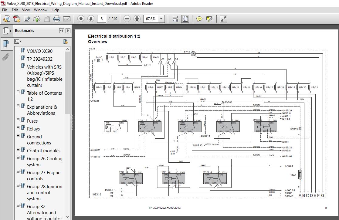 Volvo Xc90 2013 Electrical Wiring Diagram Manual - PDF Download ~  HeyDownloads - Manual Downloads | Volvo Wiring Diagrams Download |  | HeyDownloads