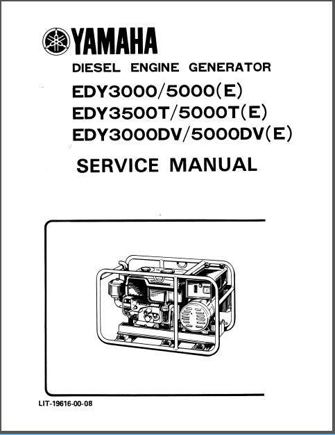 Yamaha Generator Service Repair Manual Edy3000 Edy3500
