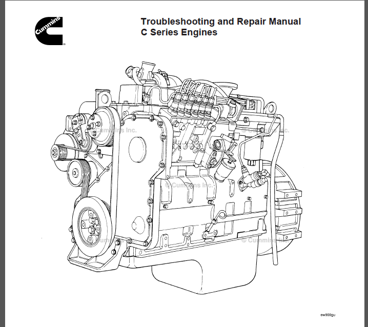 Cummins C-Series Engine Troubleshooting and Repair Manual