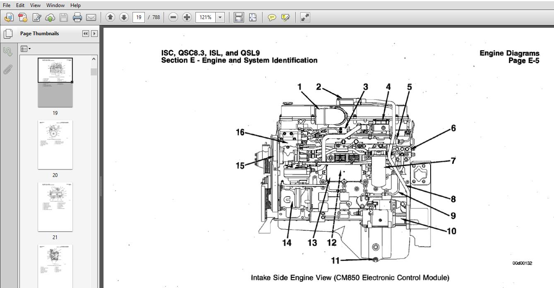 Cummins ISC, QSC8 3, ISL and QSL9 Engines Shop Service