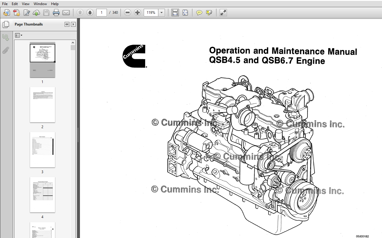 Cummins QSB4.5 and QSB6.7 Engine Series Operation and